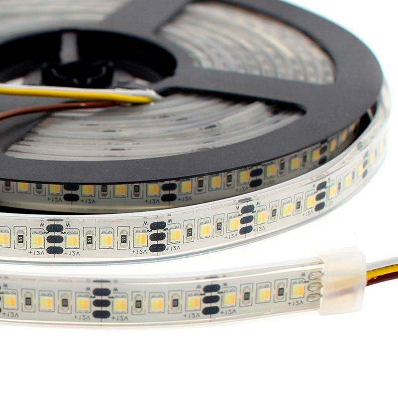 Tira LED Blanco Dual SMD3528, DC12V, 5m (240 Led/m) - IP68